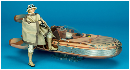 2017 San Diego Exclusive X-34 Landspeeder with Luke Skywalker - The Black Series 6-inch action figure collection from Hasbro