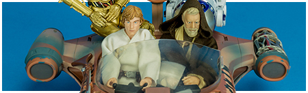 02 X-34 Landspeeder with Luke Skywalker - The Black Series 6-inch action figure collection from Hasbro
