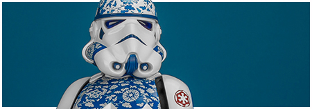 MMS401 Stormtrooper (Porcelain Pattern Version) - 1/6 scale Movie Masterpiece Series collectible figure from Hot Toys