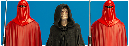 Emperor Palpatine with Royal Guard ARTFX+ Three pack from Kotobukiya