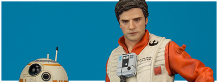 Poe Dameron & BB-8 ARTFX+ Statue Two Pack from Kotobukiya