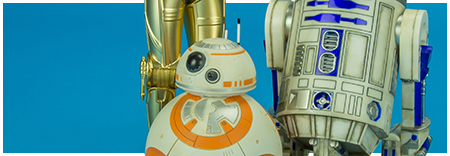 R2-D2 and C-3PO with BB-8 ARTFX+ Three Pack from Kotobukiya