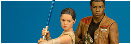 Rey and Finn ARTFX+ Statue Set from Kotobukiya